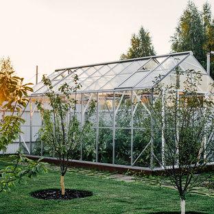 Пример оригинального дизайна: летний участок и сад в современном стиле