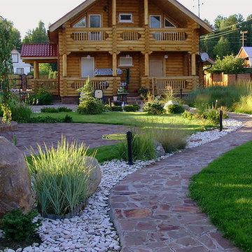 Ландшафтный дизайн - камни и сад трав в Завидово.