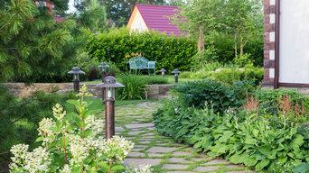 Маленький сад в пригороде