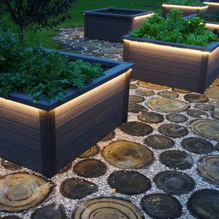 Idée de décoration pour un jardin champêtre.