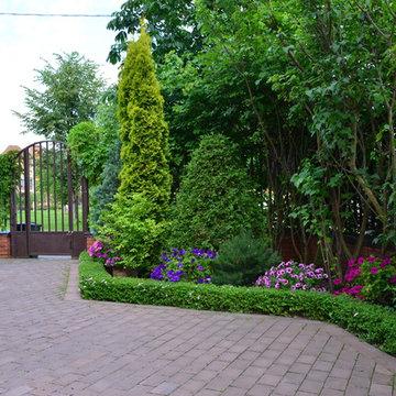 """Сад """"Царство растений"""" ландшафтный стиль."""