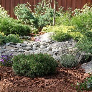 Exemple d'un jardin éclectique.