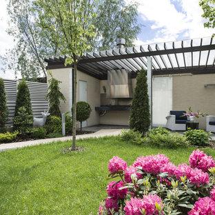 Ejemplo de jardín contemporáneo, pequeño, en patio
