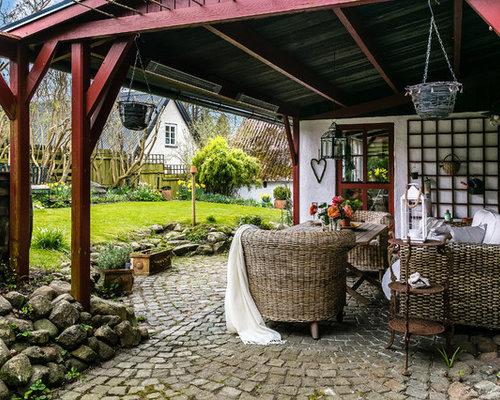 Ideas para patios   Diseños de patios de estilo de casa de campo en ...