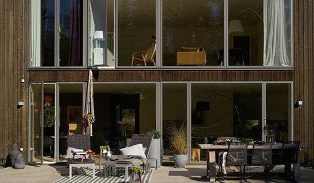 窓の配置で表情をつくりだした、スウェーデンの美しい家