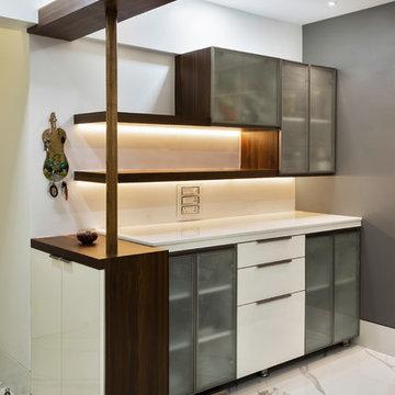 680 sqft Living Area Design