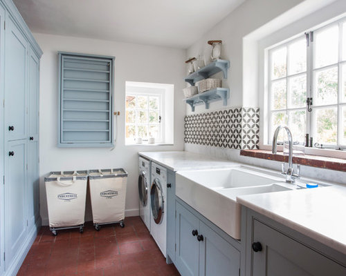 Laundry room design ideas renovations photos with terra for Laundry room floor ideas