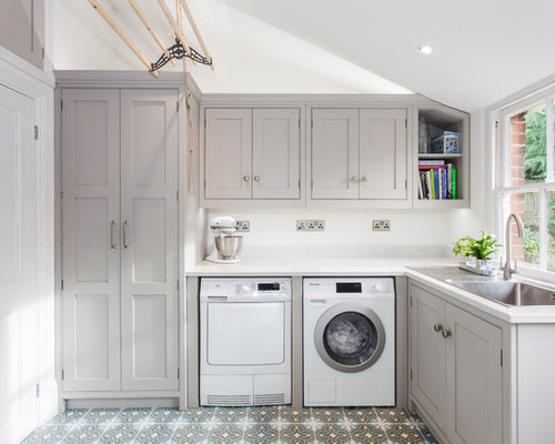 waschk che mit waschbecken ideen design bilder houzz. Black Bedroom Furniture Sets. Home Design Ideas