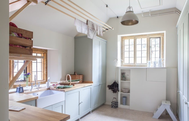 Country Laundry Room by Gabriel Holland Interior Design
