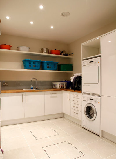 Contemporary Utility Room by London Basement