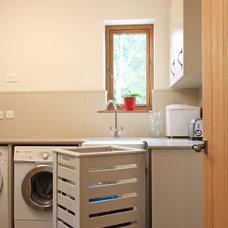 Contemporary Laundry Room by Beau-Port Kitchens