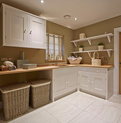 Country Laundry Room by Coppice Guild