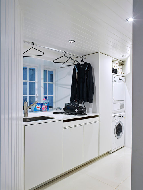 Laundry Room Design Ideas Remodels Photos With An Integrated Sink