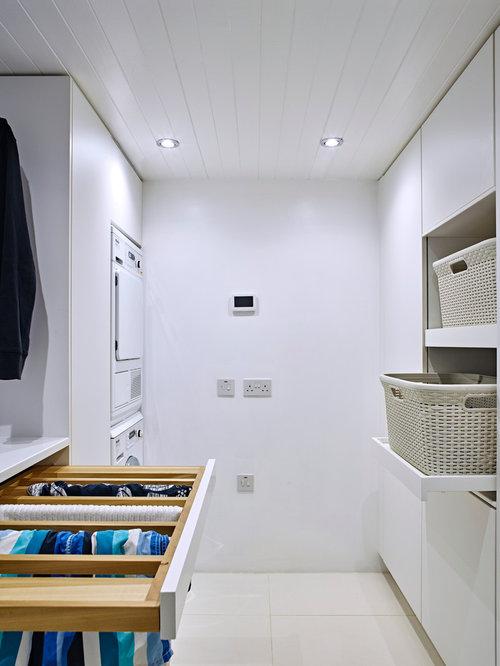 hauswirtschaftsraum mit integriertem waschbecken ideen f r waschk che haushaltsraum houzz. Black Bedroom Furniture Sets. Home Design Ideas