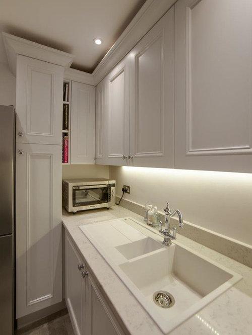 hauswirtschaftsraum mit quarzit arbeitsplatte und integriertem waschbecken ideen f r. Black Bedroom Furniture Sets. Home Design Ideas