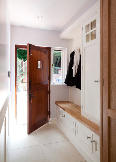 Transitional Utility Room by Designer Kitchen by Morgan