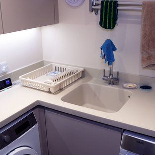 Ispirazione per una lavanderia contemporanea