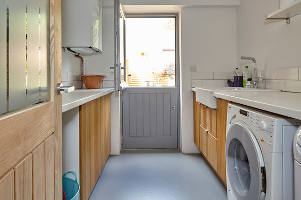 Contemporary Laundry Room by Lucy Crockett Design