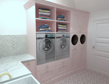 Dusty Pink Laundry Room