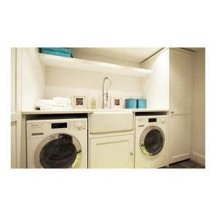 Inredning av en tvättstuga