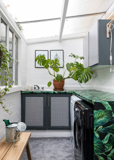 Eclectic Laundry Room by Chris Snook