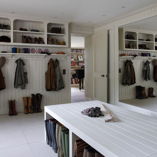 This is an example of a large classic utility room in Hampshire.