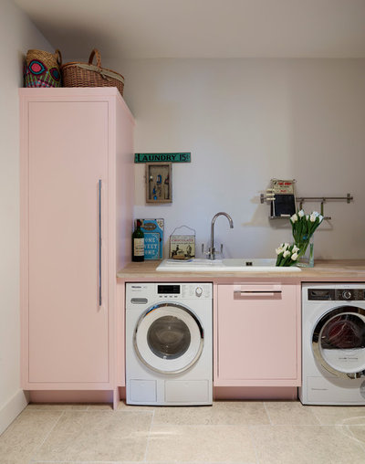 Transitional Laundry Room by Harvey Jones Kitchens