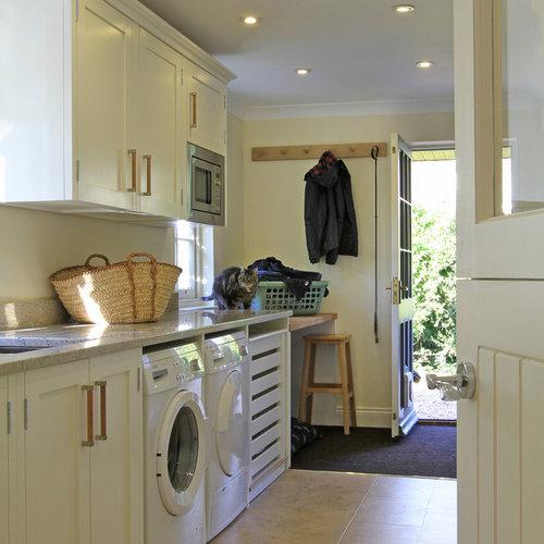 Foton och inredningsidéer för moderna tvättstugor i Hampshire