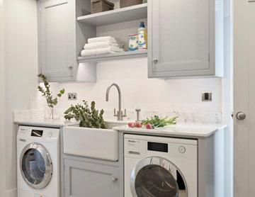 Light Grey Utility Room by The Secret Drawer