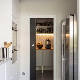 Midcentury utility room in London.