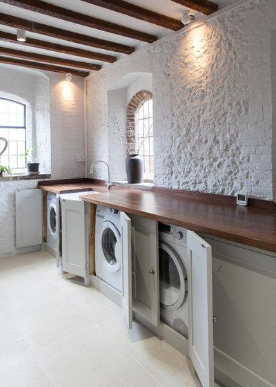 Farmhouse Laundry Room by Anthony Edwards Kitchens