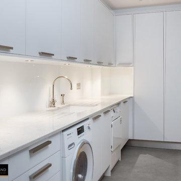 Modern White Utility Room
