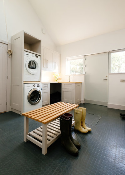 Transitional Utility Room by Broad along with Turner