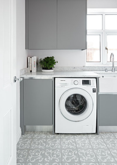 Transitional Laundry Room by Artisans of Devizes