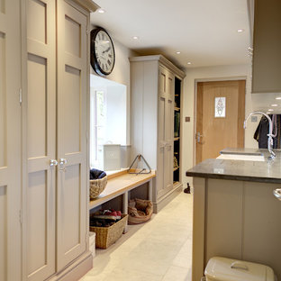 Photo of an expansive classic utility room in Hampshire.
