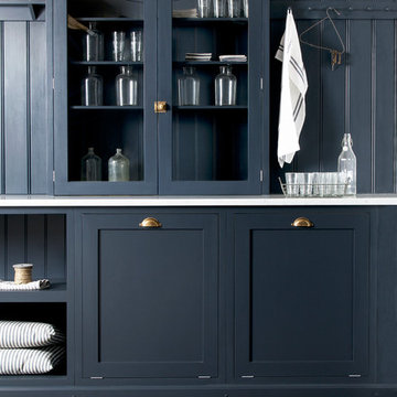 The Pantry Blue Utility Room by deVOL