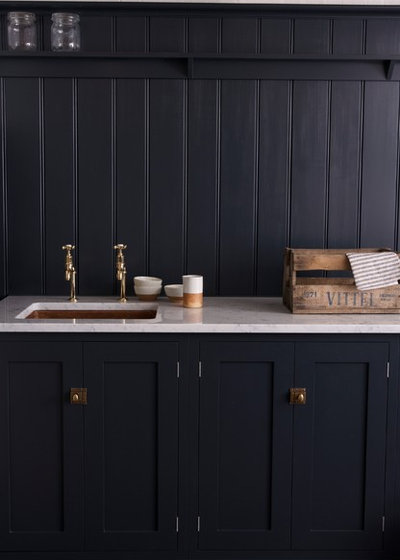 Rustic Utility Room by deVOL Kitchens