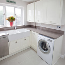 Transitional Laundry Room by Lisa Melvin Design
