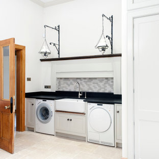 Laundry room - huge victorian laundry room idea in Other