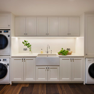 Design ideas for a victorian laundry room in London.