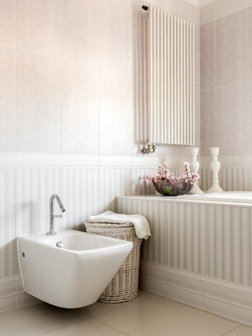 Salle de bain romantique avec un bidet : Photos et idées déco de ...