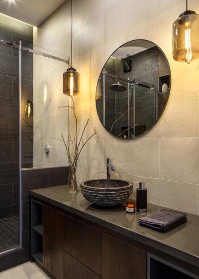 Современный Ванная комната by OM DESIGN