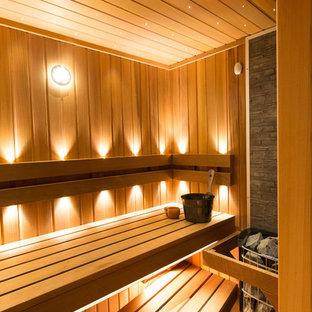 Неиссякаемый источник вдохновения для домашнего уюта: баня и сауна в современном стиле