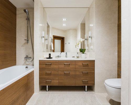 Handfat Toalett : Foton och badrumsinspiration för badrum med ett nedsänkt handfat