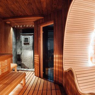 Свежая идея для дизайна: баня и сауна в современном стиле - отличное фото интерьера
