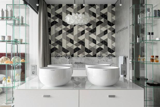 Современный Ванная комната by Nika Vorotyntseva design & architecture bureau