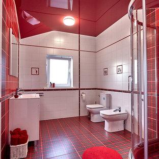 На фото: ванные комнаты в современном стиле