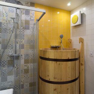 Свежая идея для дизайна: баня и сауна в скандинавском стиле - отличное фото интерьера