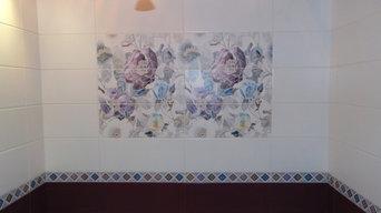 Декор над ванной