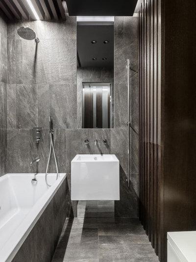 Современный Ванная комната by Архитектурная студия QUADRUM
